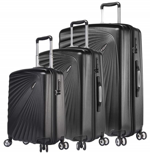 Verage® KINETIC 4-Rollen Hartschalen Light Trolley Set 3-tlg.