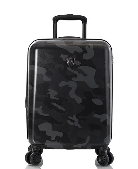 "Heys Black Camo 21"" Fashion Spinner® 4-Rollen Bord Trolley -S- 53 cm"