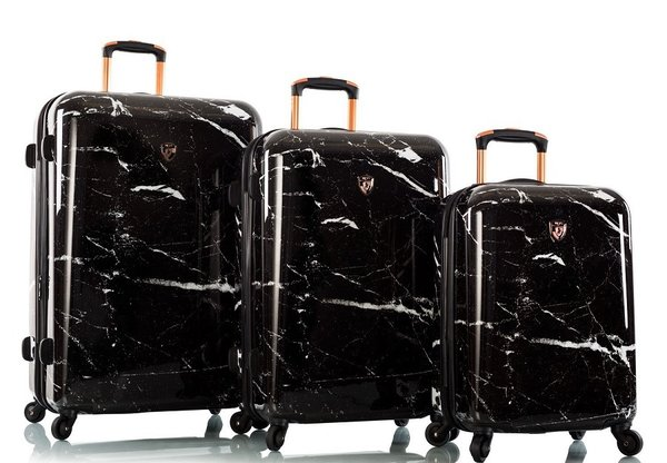 Heys Marquina - Black Marble Fashion Spinner® Trolley Set 3-tlg.