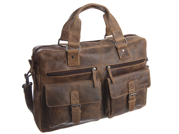 Greenland Montana Vintage Leder Business Bag XL A4