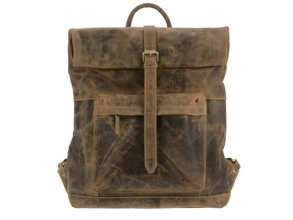 Greenburry Vintage Leder Rucksack Roll Top