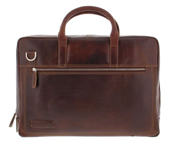 Plevier VINTAGE LONDON Leder Businesstasche 15,6""