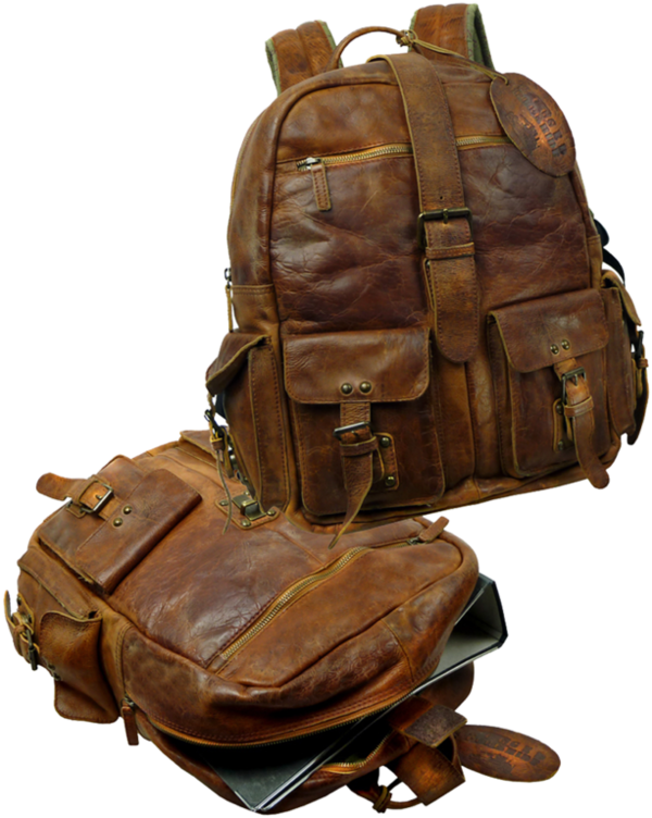 Landleder RUGGED HIDE JEROME Old School Rucksack